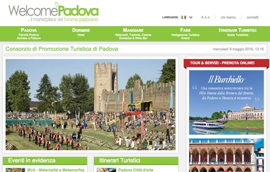 Visita il sito di Welcome Padova il marketplace del turismo padovano